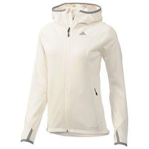 Adidas Outdoor White Fleece Hoodie